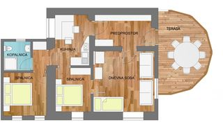 Bohinjska Bela apartment photo - Apartment 1 plans.