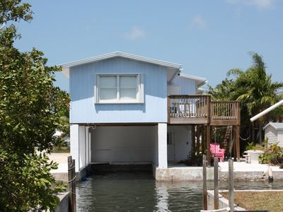 Big Pine Key house rental - Boat slip under master bedrm,small boat ramp on left