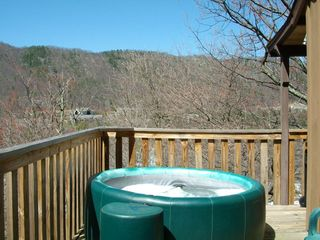 Massanutten townhome photo - The hot tub on the deck off the kitchen.