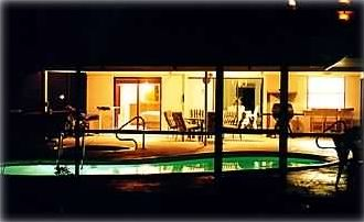 Night View of the Pool/Lanai Area
