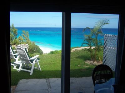 Bermuda apartment rental - Inside Sand Pebble, looking out