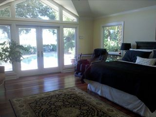 Master Bedroom with Water Views, Doors to Patio