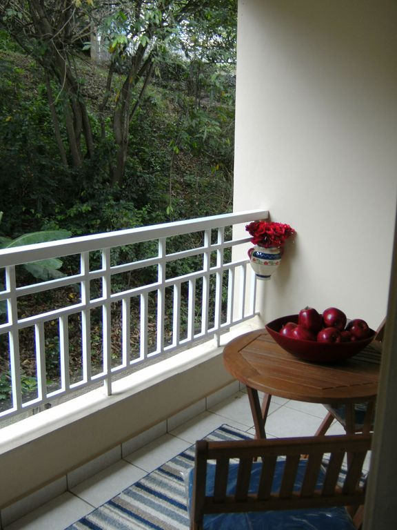 Balcony in rear of condo - mountainside view