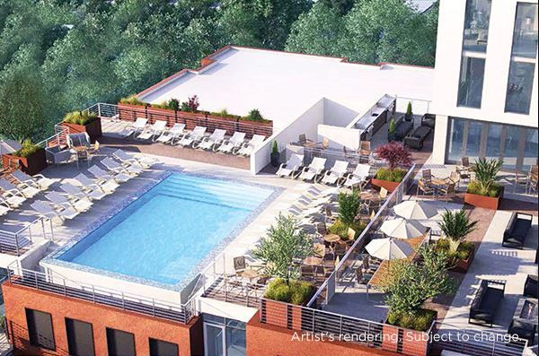 DOWNTOWN Austin with ROOFTOP Pool and BBQ Area, Fire Pit even a fitness center – We have it all