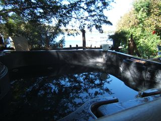 Hot tub view - Gravois Mills house vacation rental photo