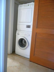 Washer and dryer in villa.