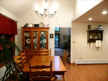 Dining area is open to kitchen, great room, and second living room.