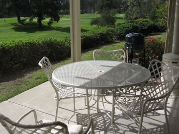 Nipomo condo rental - Patio overlooking golf course