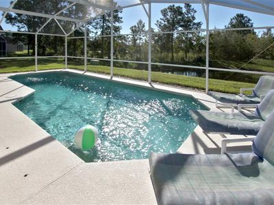 Town Centre Reserve villa rental - South facing Pool Deck and Conservation Area beyond.