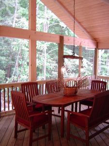 Creekside 24'x12' Porch Overlooking Creek