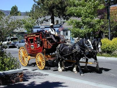 Carriage ride through Big Bear Village