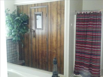 Sauna and shower in downstairs master bath