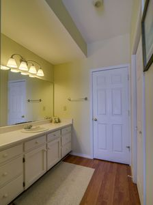 King bath dressing area. Includes walk-in closet, separate toliet and shower