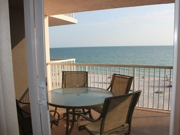 View from the Master suite over looking the beautiful Gulf of Mexico