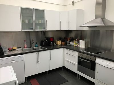Large kitchen with all amenities including dryer