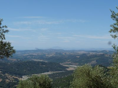 View toward Gibraltar from top of property