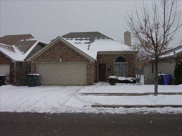 Two car garage for your convenience on a cold snowy day or on a rainy afternoon
