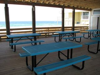 Caribbean Dunes condo photo - Picnic Tables at beach access overlooking the Gulf