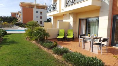 Penthouse in Block 40 with wrap-around balcony overlooking main pool & Ground floor apartment in Block 35 with Private Terrace & sunbeds, Albufeira
