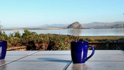 Enjoy this view of the bay every morning with your coffee and the birds