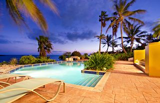 Providenciales - Provo villa photo - pool area night time