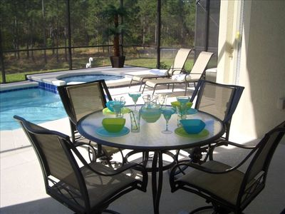 Wine Dine and Relax by the Pool and Enjoy the serenity of the lanai