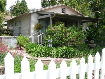 Santa Barbara house rental - Surrounded by white picket fence & Fountains