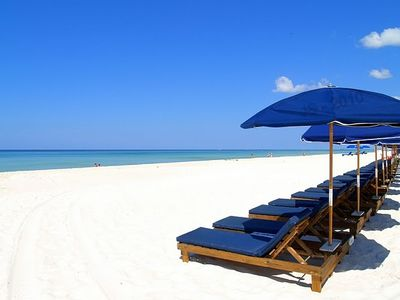 Beach service is included...WOW! Two lounges and umbrella!  Enjoy!