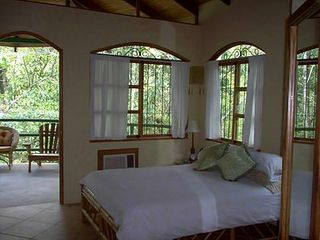 Manuel Antonio house photo - Bedroom one: opens to balcony: King bed
