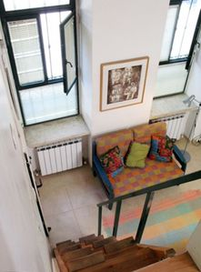 view from the loft where the double bed is located -- you need to walk up stairs