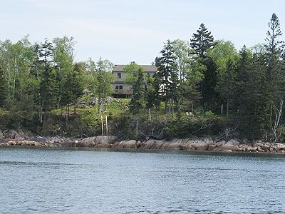 House viewed from water