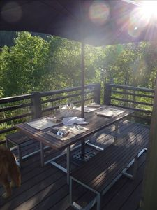 The back deck in summer