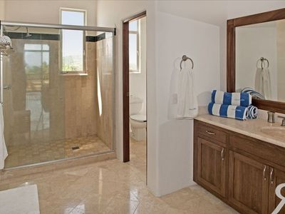 Spacious all marble bath rooms