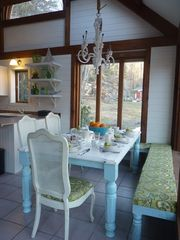 Ogunquit house photo - Kitchen, booth seating, kids will love
