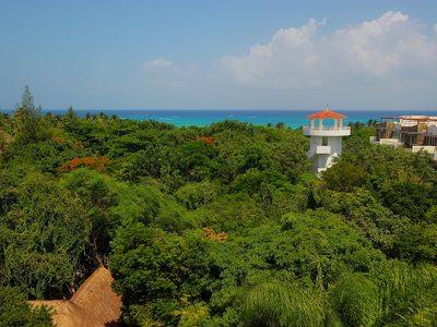 Tropical Garden View and Parcial ocean view from the solarium