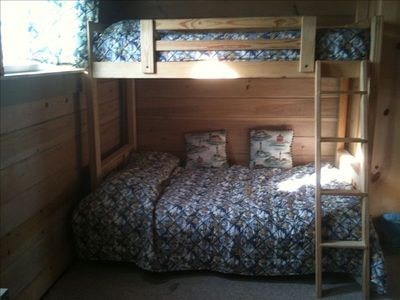 Top floor bunk beds - twin over full
