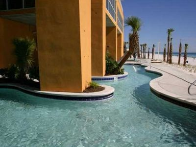 Lagoon Pool overlooking the beach.  Indoor and outdoor pools. Kid & Adult pools.