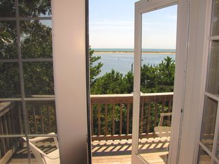 New Seabury house photo - private deck from one of the upstairs bedrooms