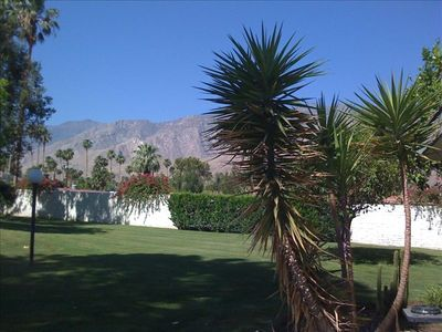 View of San Jacinto mountains from back patio