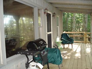 Relax on the porch for a bar-b-q - Franklin cabin vacation rental photo