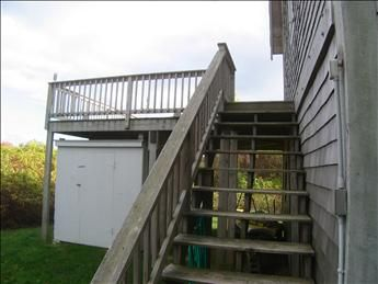 stairway up to deck area