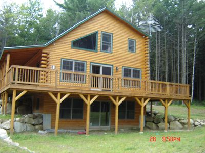 Thornton cabin rental - Wrap Around Deck - Plenty of Yard and Woods