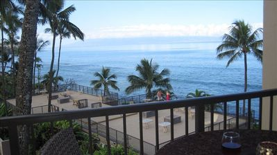 Spectacular  Oceanfront Views from our Spacious Lanai