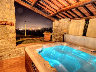 Lucca villa photo - Spa tub at night