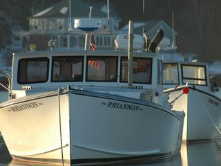 Kennebunkport studio photo - Cape Porpoise Harbor Lobster Boats