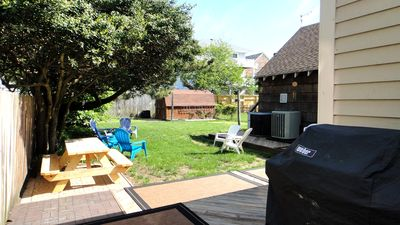 LARGE Backyard with Gas Grill.