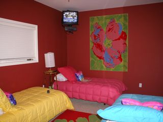 Lake Ouachita condo photo - Guest bedroom w/television DVD player