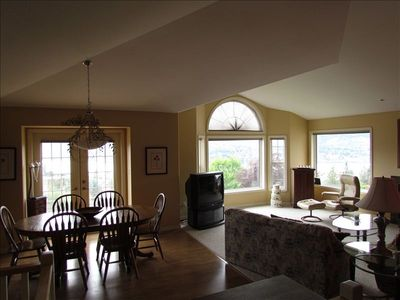 Dining Area with French Doors to deck, enjoy sunsets overlooking Skaha Lake