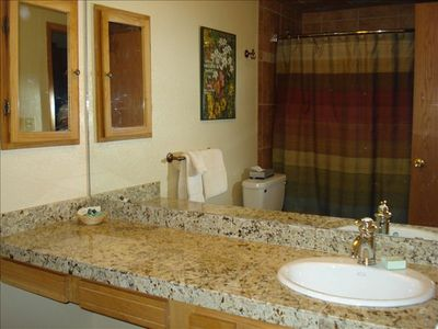 Fully Remodeled Master Bath With Granite Counter; Plenty of Storage