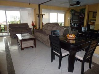 Nuevo Vallarta condo photo - Living and dining rooms. Ocean and mountain views from Living and Dining rooms.